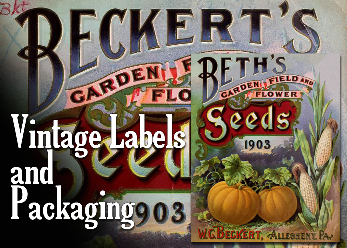 vintage labels and packaging